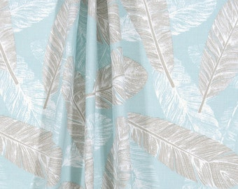"Spa Curtains, Feathers, Custom Curtains,Pair Drapery Panels, Curtains,24"" Wide,52"" Wide"
