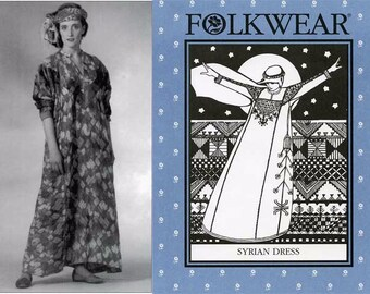 Folkwear Syrian Dress sizes S-M-L Sewing Pattern # 105