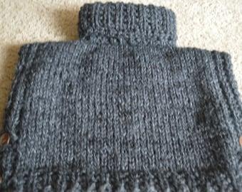 Cowl Neck Pullover Tunic Size Three/Four Acrylic Yarn