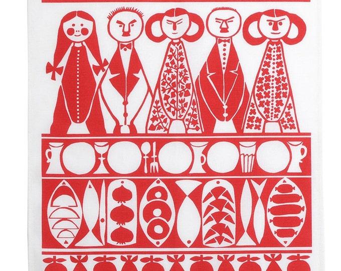 Christmas Tea Towel by Marianne Westman Mid Century Scandinavian Modern