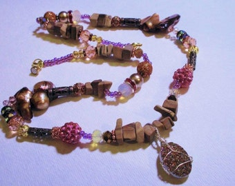 Desert Drusy - Abstract Beaded Necklace