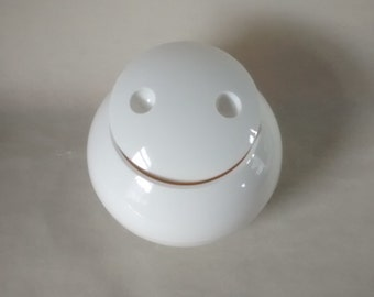 Retro White French Plastic Ice Bucket. Made in France 1960s, Good Shape.