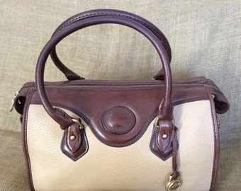 SUMMER SALE Genuine Vintage DOONEY & Bourke tan leather satchel bag