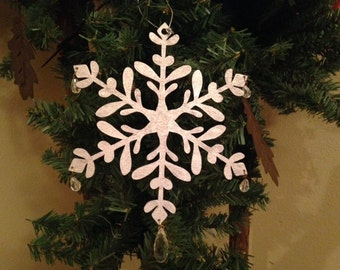Silver Gilded Snowflake Ornament