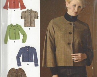 Simplicity 0613 Fall Fashion Trends  Misses' Jackets sewing pattern size 14-22 c. 2007