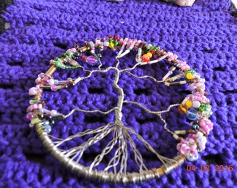 Tree of life Wall Decor or  Dream Catcher  or Altar Tile