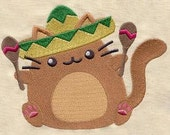 Fiesta Cat Sombrero Cat Dice Bag or Pouch