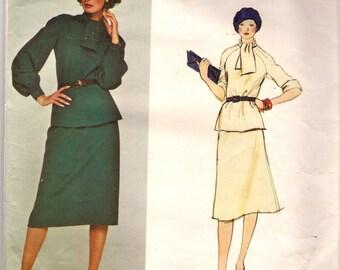 Vogue Paris Original Sewing Pattern 1305, Pierre Balmain Vintage Two Piece Dress, Size 12