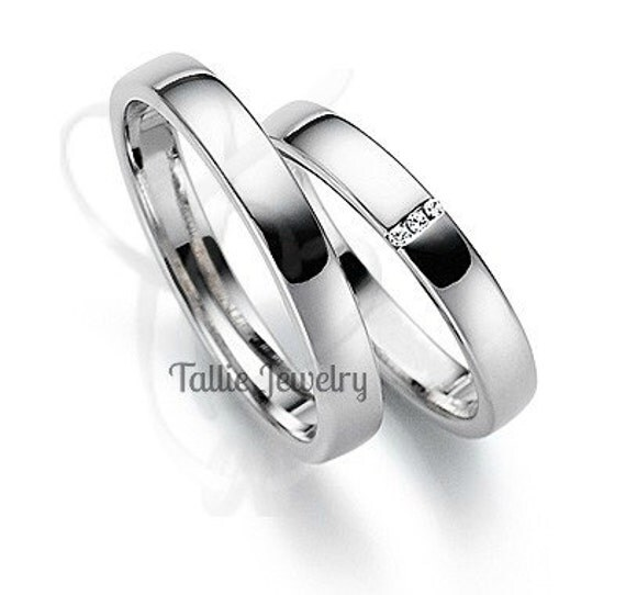 his hers wedding rings10k white gold matching by