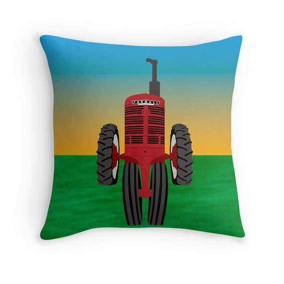 Farmall tractor pillow cover tractor photo pillow farming for International harvester room decor