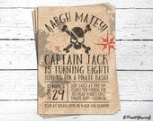 Pirate Invitation // Personalized Printable Old Paper Pirate Bash Birthday Invitation // Pirate Invite // Pirate Party // Pirate Bash