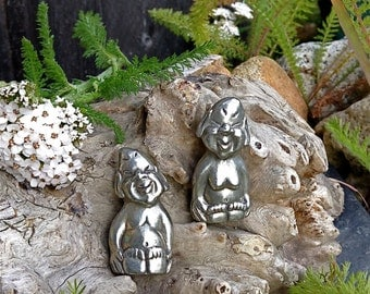 Alaskan Billiken, Traditional Billiken, Good Luck Charm,  Billiken Figurine, Made In Alaska, Lucky Billiken, Pewter Figurine, AK Lucky Charm