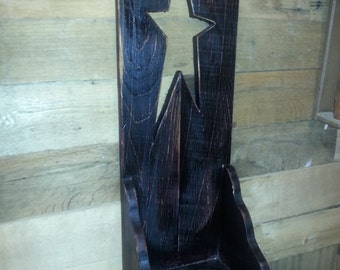 Primitive Wall Decor candle holder