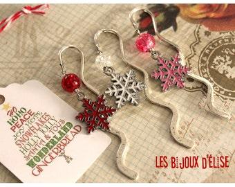 Snowflake Bookmark Christmas Bookmark Antique Silver