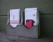 Desk top -Mail Organizer-Mail Holder-Letter Holder-Organizer-Mail and Key Holder-Wall Mounted Key Rack-Mail Rack-Mail Sorter-Double Desk Top