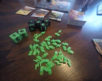 Lightning bolt pieces for King of Tokyo