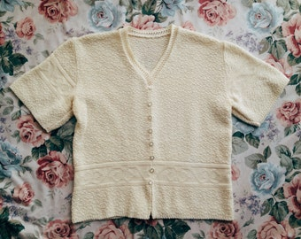 Vintage Short Sleeves 90s Sweater Top