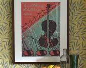 Original Design Art Deco Bauhaus A3 A2 A1 Poster Print Vintage 1930's Jazz Music George Gershwin Quote Vogue Cafe