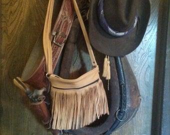 Saddle Tan Soft Leather Fringe Purse