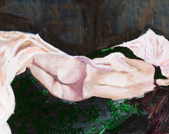 Afternoon Nap - Art Print, Large Wall Art, Nude Painting, Figure Painting
