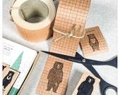 Kraft Craft Paper Tape Blue Grid - Classiky