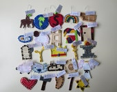 25 felt Jesse Tree ornaments - Our SUPER DELUXE 'Ornate Bead and Sequin' set -with hooks and tags
