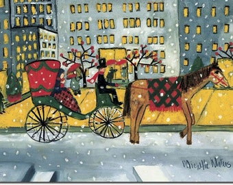 Horse and Carriage, Boxed holiday cards by Michelle Winters