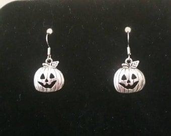 Halloween Carved Pumpkin Earrings