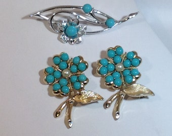 3 Piece Lot of Turquoise Sarah Coventry Jewelry