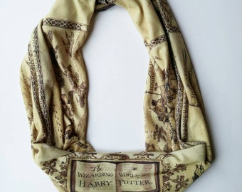 Harry Potter Wizarding World map infinity scarf