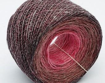 Gradient Linen / Silk Yarn , 77gr
