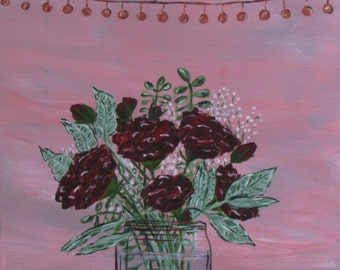 The Bridal Bouquet - Original Acrylic Painting on Canvas