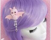 Creepy kei Hairclip pink