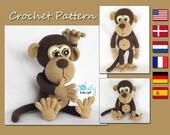 Amigurumi Pattern, Monkey, Animal Crochet Pattern, CP-147