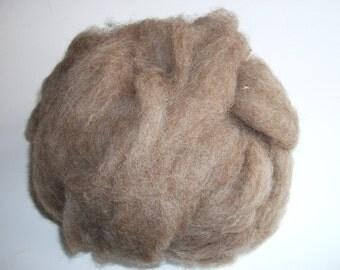 Natural brown Shetland wool roving for spinning, undyed wool roving, undyed Shetland roving 4oz.