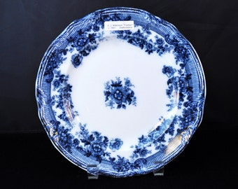 Staffordshire 1907 Flow Blue Antique Dinner Plate, Fabulous Blue, Made in England, Great Gift Idea, #1922