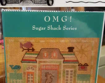 AUGUST Saltwater Taffy Shanty - Cross Stitch Chart OMG #28 Counted Confections