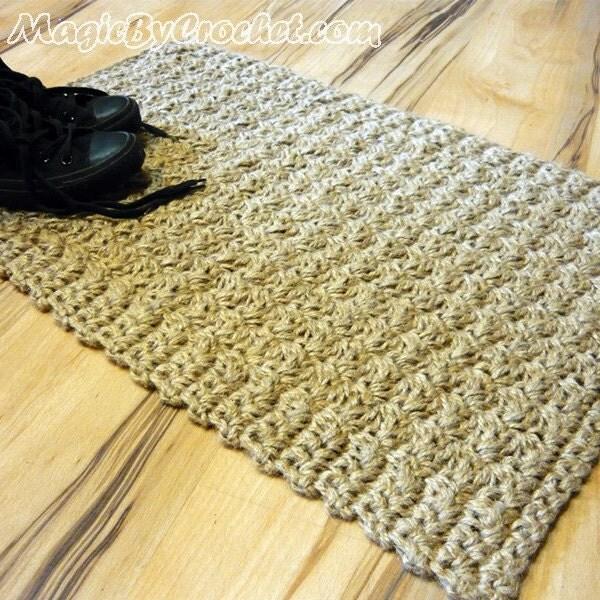 chemin de couloir tapis de jute tapis au crochet. Black Bedroom Furniture Sets. Home Design Ideas