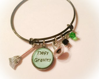 Defy gravity, wicked the musical, wicked, wizard of oz, oz, defying gravity, wicked jewelry, wicked inspired, Elphaba, broadway jewelry