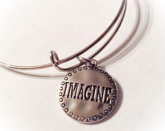 Imagine, imagine bangle, imagine jewelry, imagine bracelet, imagine charm