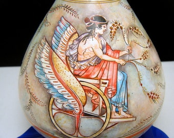 Grecian Ewer Reproduction Triptolemus God of Farming Hand Made in Greece