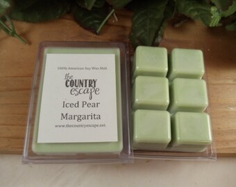 Iced Pear Margarita Scented 100% Soy Wax Melt - Blend of Pear, Lemon and Mango Flowers - Maximum Scented