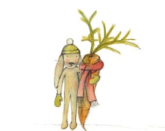 Love will keep you warm - Printable illustration