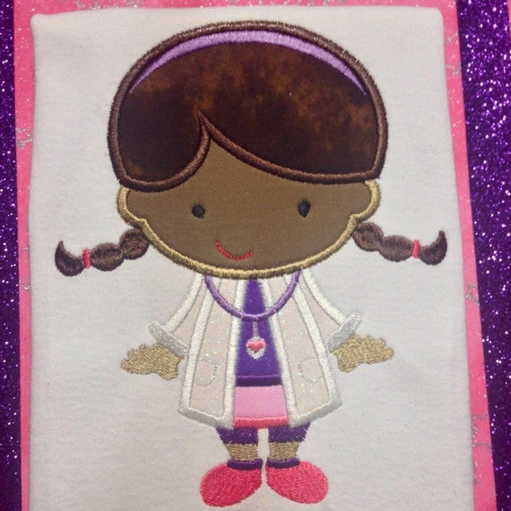 Cutie Doctor Girl Embroidered Shirt - Doc McStuffins Birthday Shirt - Disney Jr - Disney Vacation - Disney Trip - Lambie - Stuffy- Chilly