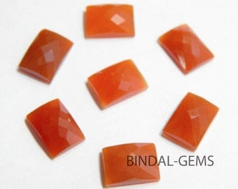 Wholesale Lot 5 Pieces Amazing Red Onyx Octagon Shape Checker Cut Gemstone For Jewelry