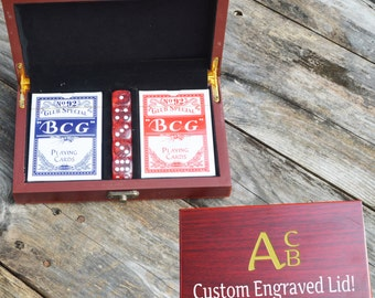 Personalized Card and Dice Game Gift Set
