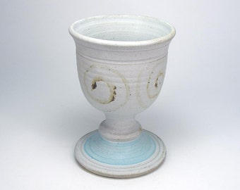 Clay Ritual Goblet Wiccan Stoneware Pottery Spiral Temple Chalice