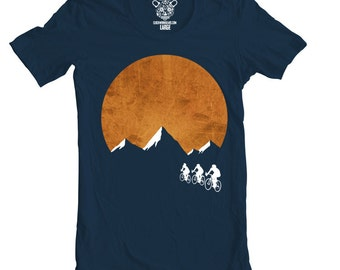 Sunset Ride Men's T-Shirt, CWG Bike Tee, Available S - XXL