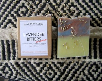 Lavender Bitters Cold Process Soap Lavender Bud Ginger Citrus Peel Spices Olive Oil Vegan All Natural Bar Essentials