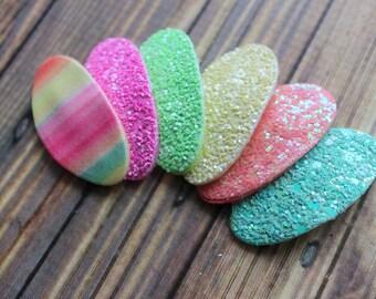Glitter hair clips-  Choose 1 color - Summer hair clips